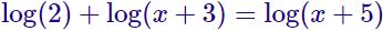 ecuación logarítmica